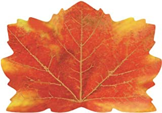 ECP Thanksgiving Placemats Dinner Dining Table Décor -Maple Leaf Shaped Paper Place mats Fall Autumn Harvest Maple Leaves Tablecloth Home Decorations