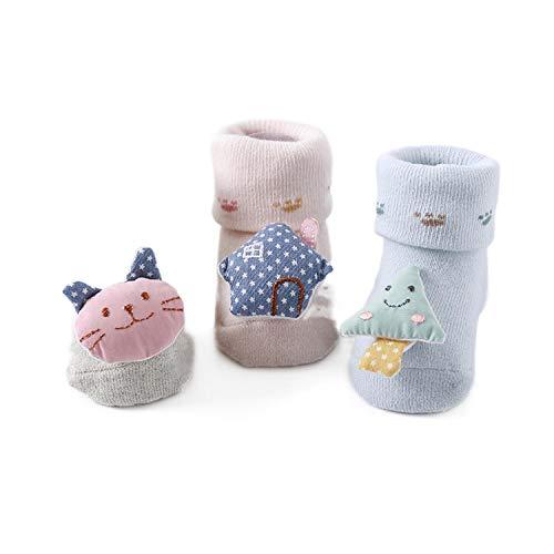 Hombres Y Mujeres Zapatos De Bebé Y Calcetines De Primavera Y Otoño De Algodón De Dibujos Animados Antideslizante Interior
