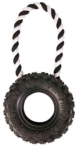 Trixie 33702 Reifen am Seil, Naturgummi, ø 15/31 cm