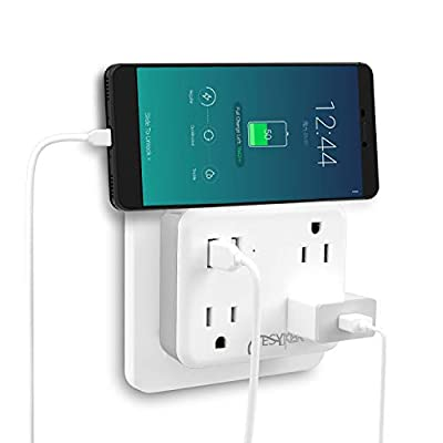Multi Plug Outlet, USB Wall Charger Outlet Extender
