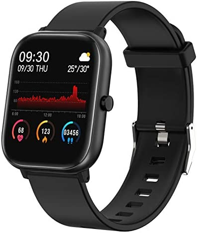 FirYawee Smart Watch for Android Phones and iOS Phones Compatible iPhone Samsung, IP68 Waterproof Pedometer Smartwatch with Sleep Monitor, Heart Rate Monitor, Step Counter for Women and Men