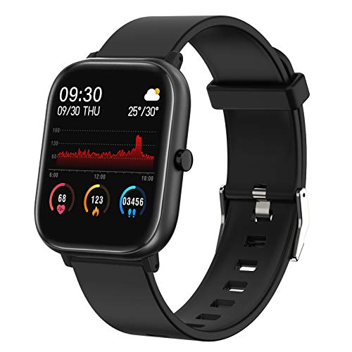 """Smart Watch,FirYawee Fitness Tracker for Android Phones and iOS Phones,1.4"""" Touch Screen Smartwatch with IP68 Waterproof,Heart Rate Monitor,Sleep Monitor,Step Calorie Counter for Women and Men"""