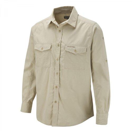 Craghoppers Herren Outdoor Reise Kiwi Langarm Hemd, beige(Oatmeal),XL
