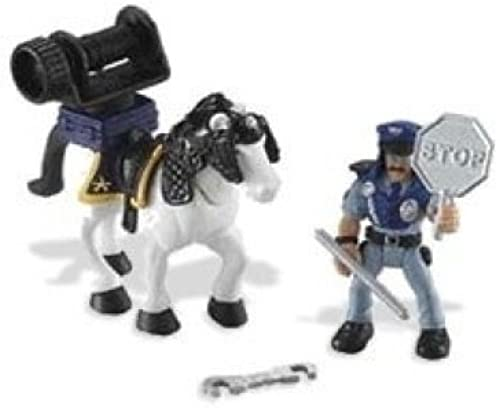 Imaginext Mounted Polizei Officer 7 ece Set With Horse by Fisher Price