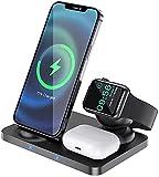 Kettles Chargeur sans Fil 3 en 1 Stand Qi 15W Dock de Chargement Rapide pour I/Phone 12 et I/Watch...
