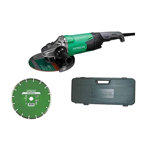 Hitachi G23SW2WW - Amoladora 230 mm 2,200 W con maletin y disco diamante