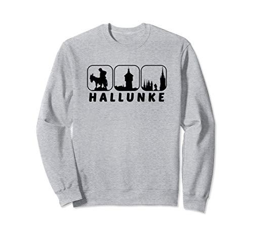 Halle Saale Hallunke Silhouette Hallenser Geschenk Idee Sweatshirt