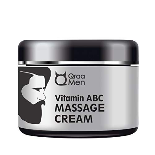 Qraa Vitamin ABC Facial Massage Cream for Men with Shea Butter, Coconut Oil and Other Natural Ingredients