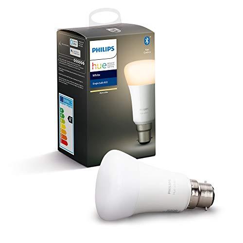 Philips Hue LED-Leuchtmittel, verbunden, Weiß B22, funktioniert mit Alexa Leuchtmittel B22 weiß