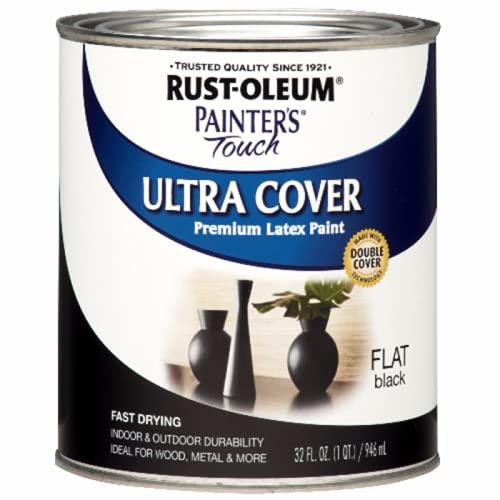 Rust-Oleum 1976502 Painter's Touch Latex Paint, Quart, Flat...