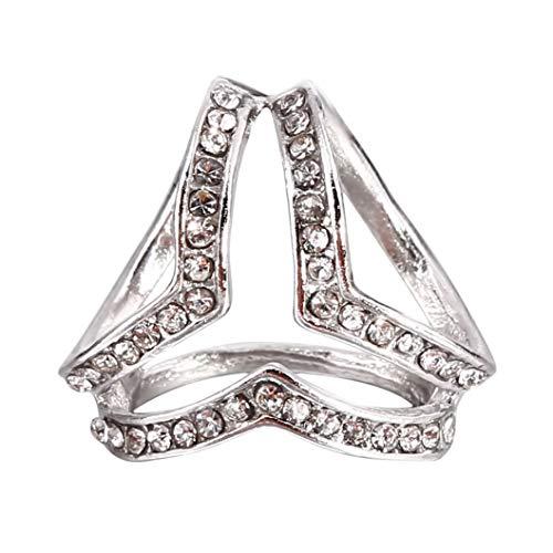INSEET Trizyklische Schalschnalle Damenmode Elegante Brosche Seidenschals Clip, Silber Farbe