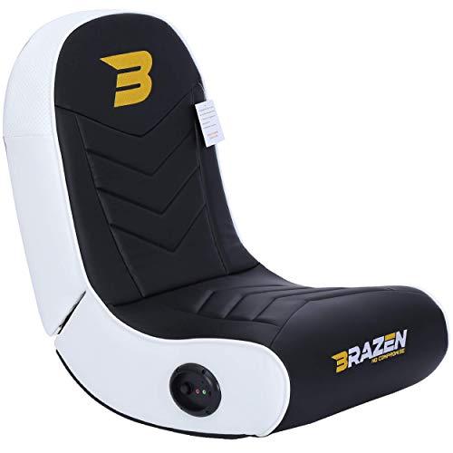 BraZen Stingray 2.0 Surround Sound Gaming Chair - White