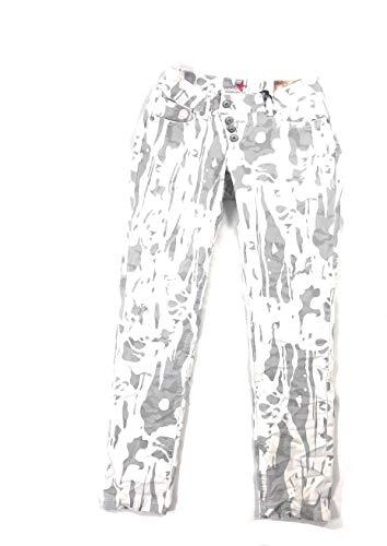 Buena Vista Damen 7/8 Jeans Malibu Stretch Twill Ecru Weiss grau - M