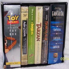 Walt Disney's Ultimate Collector's Edition (Fantasia Anthology / Toy Story Toy Box / Emperor's New Groove / A Bug's Life / Tarzan / Dinosaur)