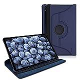 kwmobile Funda Compatible con Samsung Galaxy Tab S7 Plus - Carcasa de Cuero sintético para Tablet en Azul Oscuro