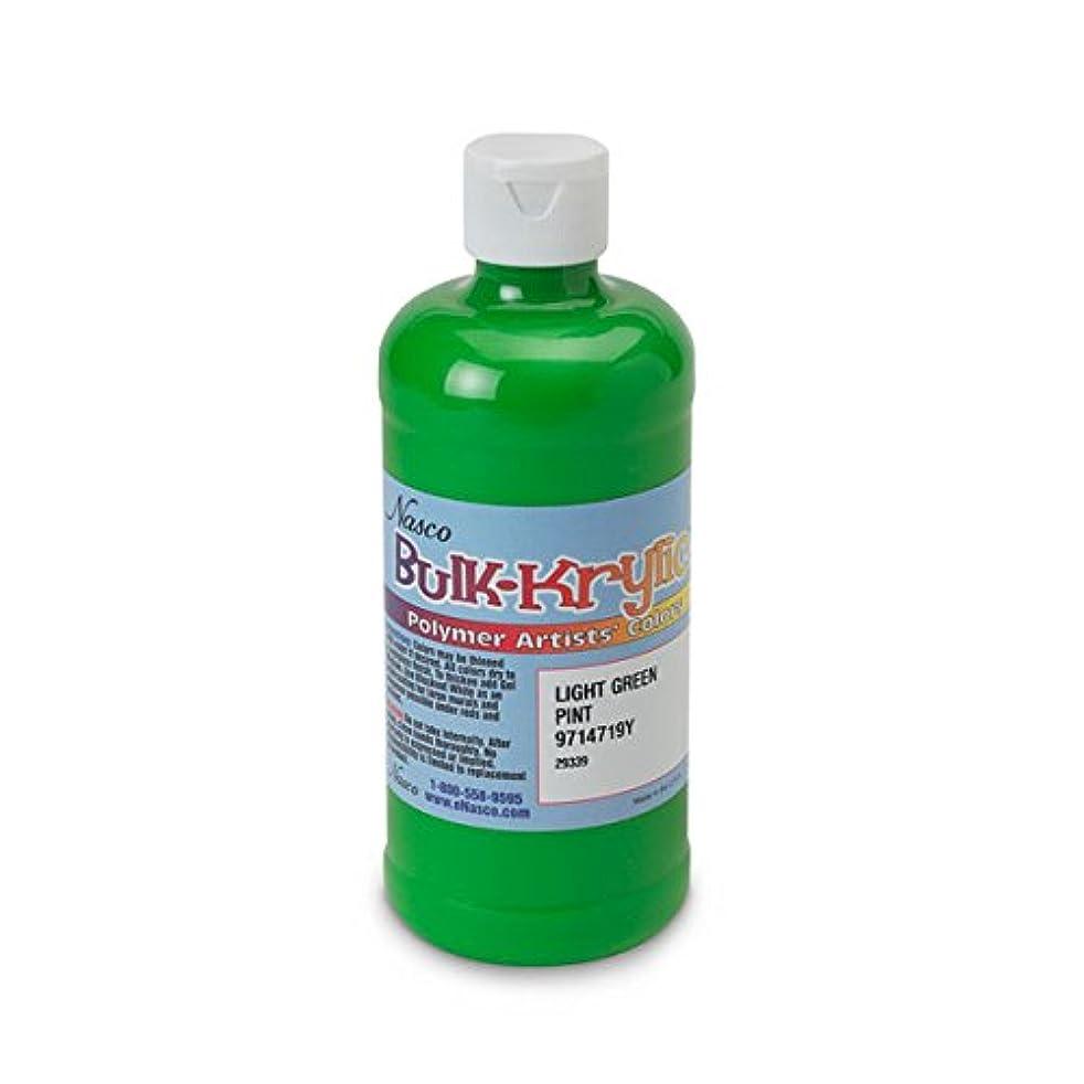 Nasco 9714719(Y) Bulk-Krylic Acrylic Paint, 1 pint Squeeze Bottle, Light Green