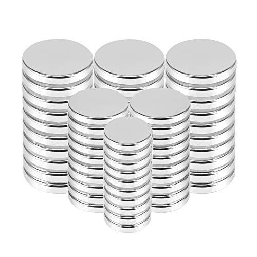 Anksixx Neodym Magnete, 30 Stück Runde Kleine Magnets, Ultra Stark Permanent Magneten, Neodym Kühlschrankmagnete für Pinnwand, Whiteboard, Magnettafel