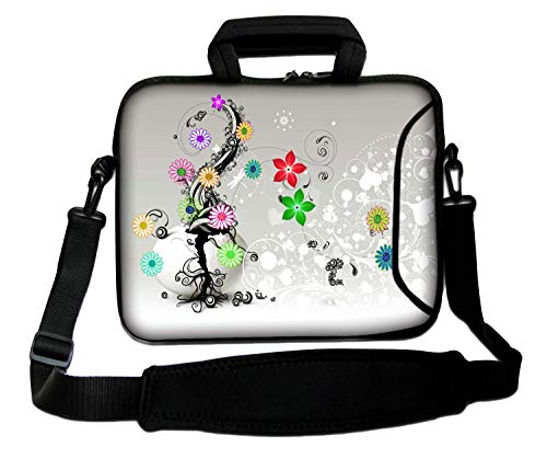 17-Inch Laptop Case for Samsung P6100 RF710 Series, Sony VAIO, Toshiba Satellite Satellite Pro with Shoulder Strap and Moisture-Proof Outer Pocket
