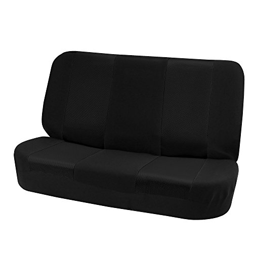 FH Group FB102010 Classic Cloth Seat Covers (Black) Rear Set – Universal Fit for Cars Trucks & SUVs