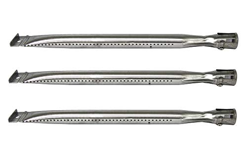 Hongso 15' x 1'(3-Pack) Universal Stainless Steel Burner for Charbroil 640-01303702-3 and Kenmore 146.16222010, Grill Master, Nexgrill & Uberhaus Gas Grill Models, SBF221