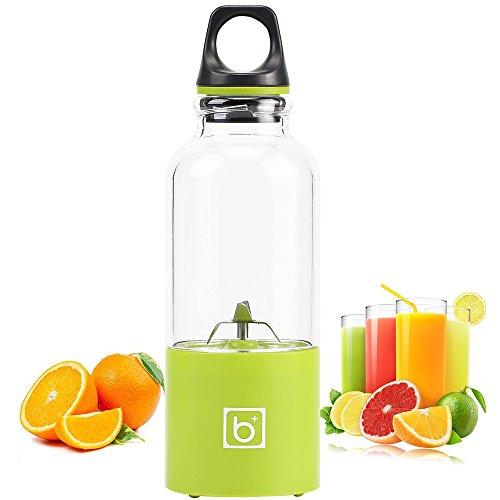 Chanety,cup,glass,tumbler,tumblerful 500ML Electric Juicer Cup Smoothie Blender Extractor USB Squeezers Fruit Citrus Lemon Orange Juicer Machine Bottle Juice Drop (Color : Green)