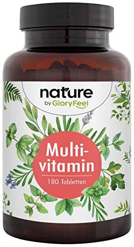 Multivitamin - Premium Komplex mit Bio-Aktiv-Formen - Alle wertvollen A-Z Vitamine und Mineralien - Laborgeprüft und hergestellt in Deutschland - 180 Tabletten