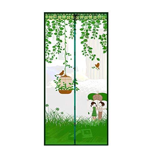 Sommernetzgarn setzen Moskitofliege Vogelkäfig Regenschirm Sommermagnet Tür Flugabwehrnetz Anti-Moskitonetz Garn Vorhang Wärme A1 B100xH210