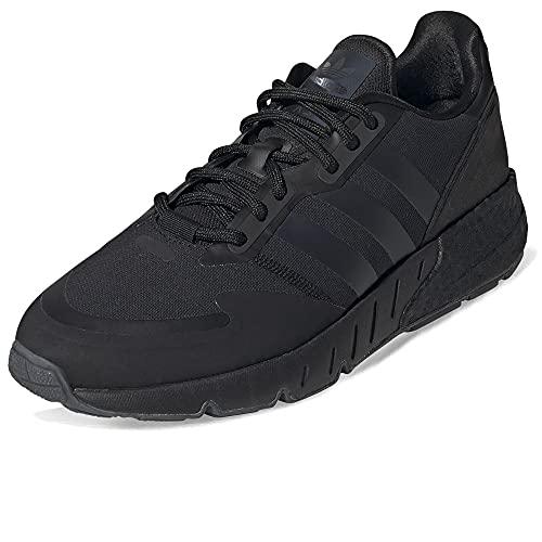 adidas ZX 1K Boost, Zapatillas de Running Hombre, Core Black Black Blue Met Core Black Core Black, 43 1/3 EU