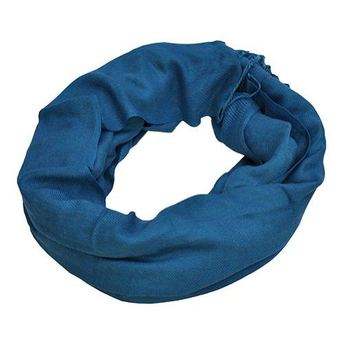 TOUTACOO Toutacoo, Pashmina-Schal sehr weich, Schal, Tuch, Crinkle-Schal, Schultertuch Venezianischblau