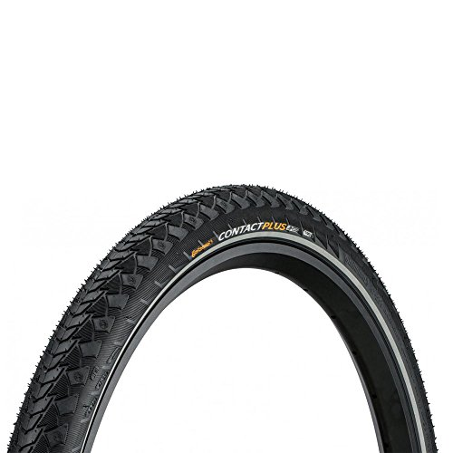 Continental Contact Plus ETRTO (28-622) 700 x 28 Reflex Bike Tires, Black