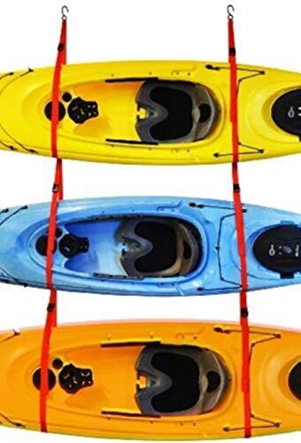 Kayak Garage 3 Storage System Malone Rack Sling Three Triple Wall or Ceiling Space Save