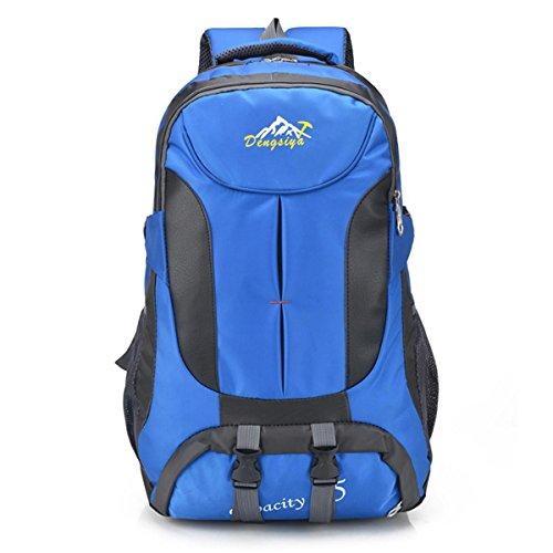 voyager sac léger de grande capacité oxford pack loisirs escalade multifonction randonnée étudiants du sac sac à bandoulière 4 couleurs H58 x W35 x T18 CM , blue