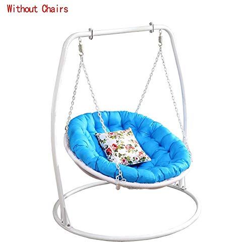 N /A Chaise en rotin, coussin de hamac, coussin suspendu, coussin de chaise hamac, coussins de chaise, balançoire en osier en forme de nid lavable sans chaises Bleu D105 cm, bleu, D105cm