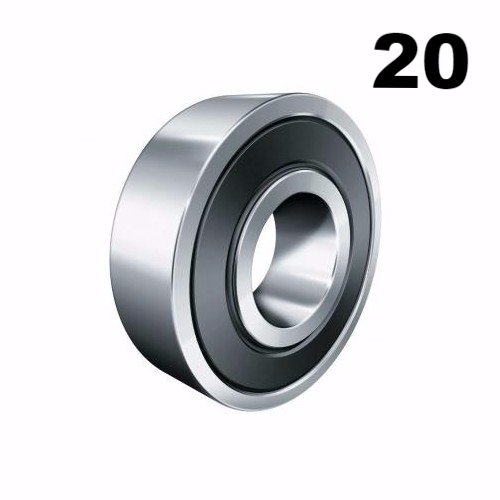 Twenty (20) 608-2RS 8x22x7 Precision Double Shielded Greased Ball Bearings 608 RS