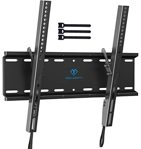 Tilting TV Wall Mount Bracket Low Profile for Most 23-55 Inch LED, LCD, OLED, Plasma Flat Screen TVs with VESA 400x400mm Weight up to 115lbs by PERLESMITH, Black. Buy it now for 19.99