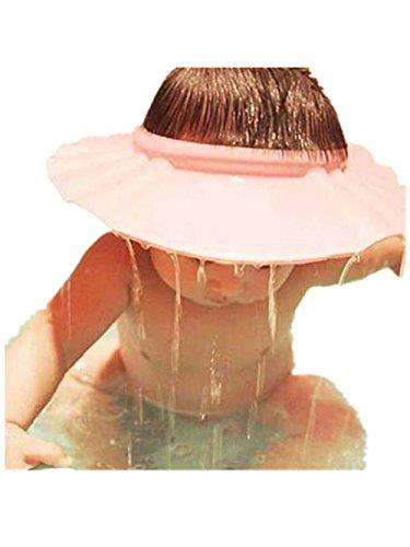 Baby Shower CapVovotrade Adjust shampoo douche baden bad beschermen soft cap hoed voor baby pink