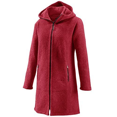 Mufflon Damen Wollmantel Rika,Farbe: rosso weinrot, Größe: M