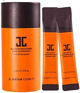 JAYJUN Brightening Black Sleeping Mask 10 x 4ml -A Skin brightening, Wrinkle Care Sleeping Pack That restores The Healthy Glow of Your Skin While You Sleep with Nutritional Ingredients Inside