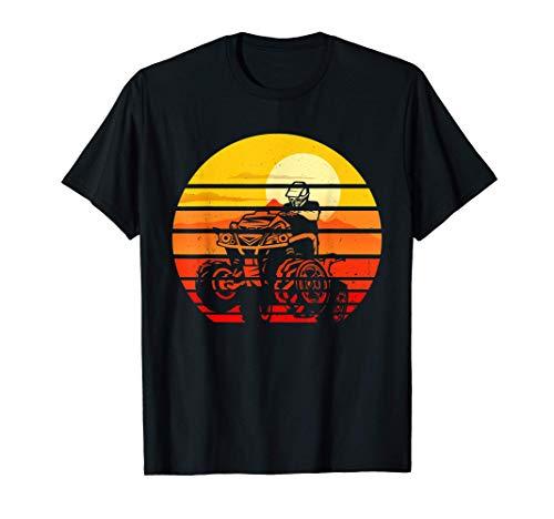 Vintage Quad Bike Silhouette 80s Retro ATV 4 Wheeler Camiseta