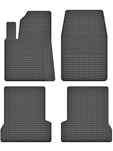 KO-RUBBERMAT Gummimatten Fußmatten 1.5 cm Rand geeignet zur Ford Fiesta mk6 mk7 (2002-2017) ideal angepasst 4 -Teile EIN Set