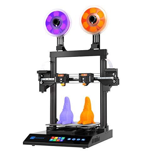 JG MAKER Large 3D Printer Artist-D Pro Dual Extruder Independent 3D Printer Direct Drive Extruder 300X300X340mm 98% Assemble ABS PLA TPU Flexible 1.75mm Filament
