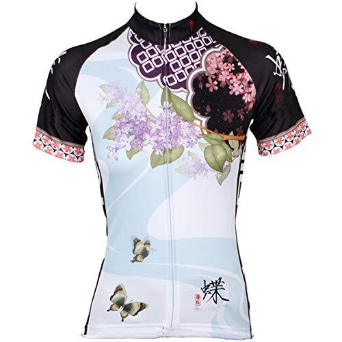 L.J.JZDY fietsshirt fietsbroek fietspak mode damesshirt met lange mouwen licht en ademend fietsshirt sportkleding