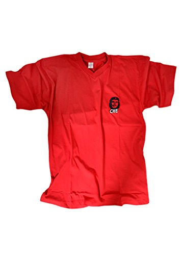 Che Guevara T-shirt pour homme, Rouge, brodé, taille XL