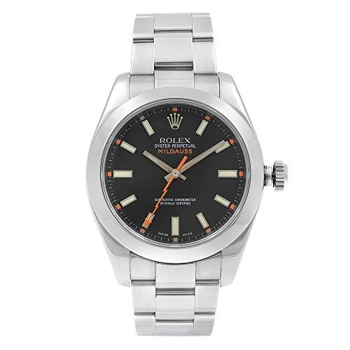 Rolex Milgauss Automatic-self-Wind Male Watch 116400BKO (Certified Pre-Owned)