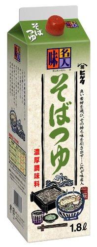 ヒゲタ 味名人 そばつゆ1.8L紙パック