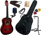 Pack Guitare Classique 3/4 (8-13ans) Pour Enfant Avec 7 Accessoires (rouge)
