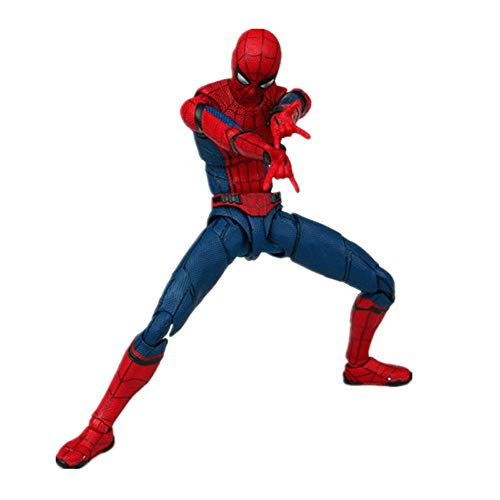Qiyun Llanta Spider Man Homecoming The Spiderman Action PVC Figuras de colección Model Toy 15 cm -