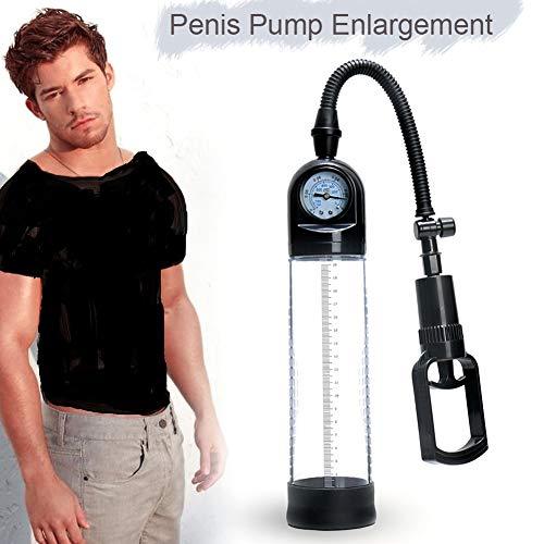 Edonsor Effektives Vakuumpumpenset für medizinische Pumpen für Herren, manuelles ED-Pumpenmassagegerät mit Druckmesser