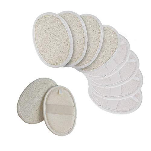 Xumier 10pcs 100% luffa naturale e materiale in spugna Luffa Esfoliante Pad Loofah Luffa Bagno...