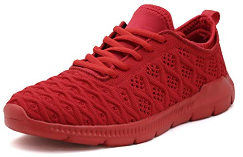 JOOMRA Women Tennis Shoes All Red Lightweight Breathable Casual Workout Ladies Gym Fashion Walking Running Athletic Sneakers Size 5.5